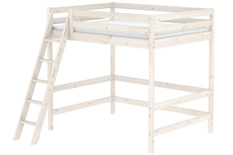 Flexa Classic hoogslaper met schuine ladder (whitewash)
