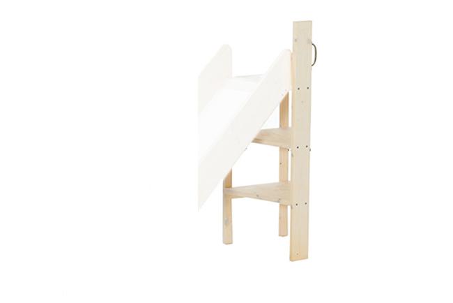 Rechte, whitewash trap voor de glijbaan uit de Lifetime Original collectie. Hiermee maakt u uw glijbaanbed compleet.