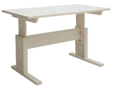 Dit White Wash bureau van Lifetime is in hoogte verstelbaar (van 56 cm tot 78 cm hoogte).