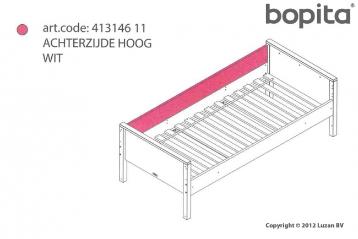 Bopita Achterzijde Recht Hoog Combiflex Wit  41314611