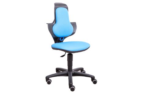 Bureaustoel in hoogte verstelbaar  zitting kleur stof Blauw