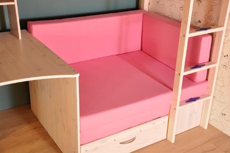 Kussenset voor loungebank - Roze