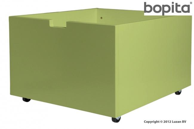 Bopita Speelgoedbak op wielen - Medium - Lime kleur