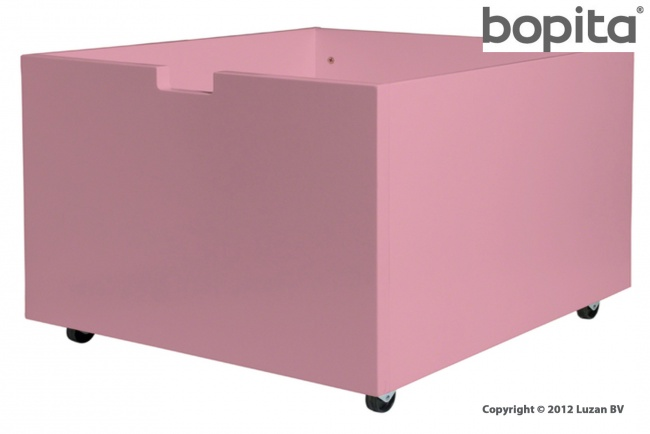 Bopita speelgoedbak op wielen Licht Roze