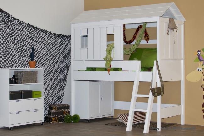 Bopita halfhoogslaper met huisje - hutbed