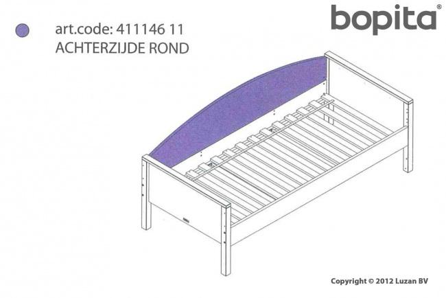 Bopita Combiflex Achterzijde Rond Wit