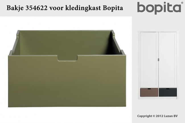 Bopita Bakje Medium Army Green