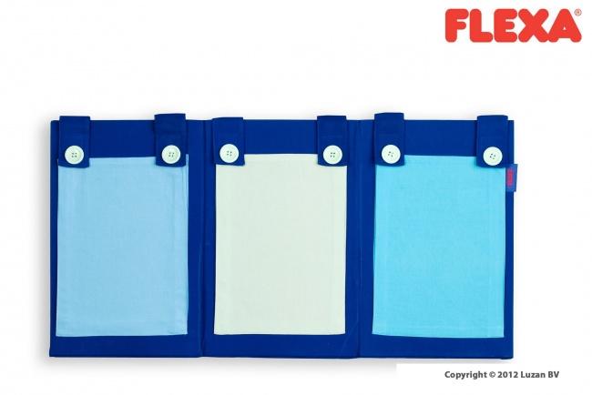 Flexa Tijdschriftentas blauw  met 3 vakken