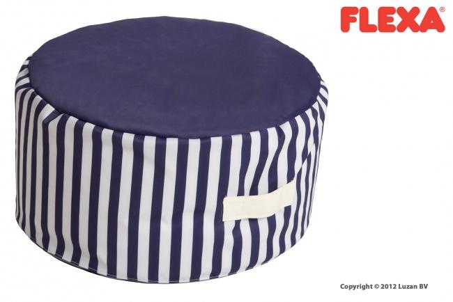Flexa Zitzak / Poef Blauw