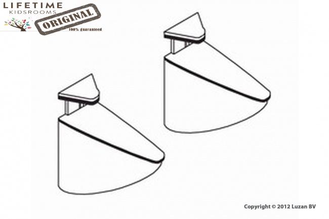 Lifetime 2 Aluminium Houders Voor Plank 251+252