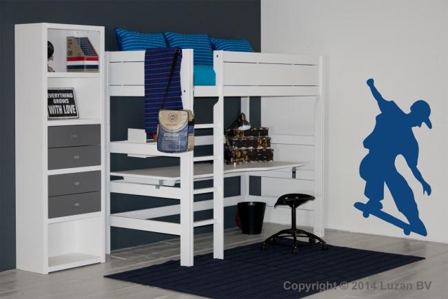Deze Lifetime Original hoogslaper met groot bureaublad is het ideale bed voor een tiener. En voor een kleine slaapkamer.
